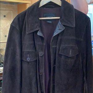 Express men's suede brown jacket
